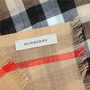 Burberry(バーバリー) マフラー GAUZE GIANT CHK CAMEL CHECK h02