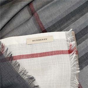 Burberry(バーバリー) マフラー OMB GAUZE GI CHK IVORY CHECK h02