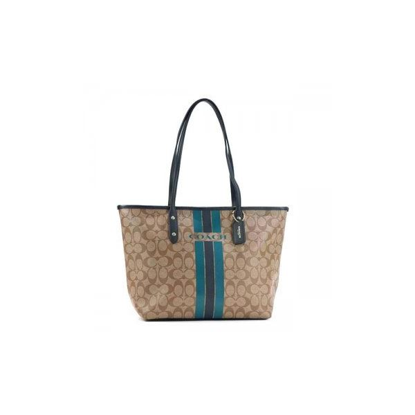 Coach Factory(コーチ F) トートバッグ 38405 SIGNATURE COATED COTTON CANVASf00