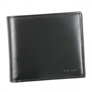 Paul smith(ポールスミス) 三つ折り財布(小銭入れ付) ARXC4833 B Black h01