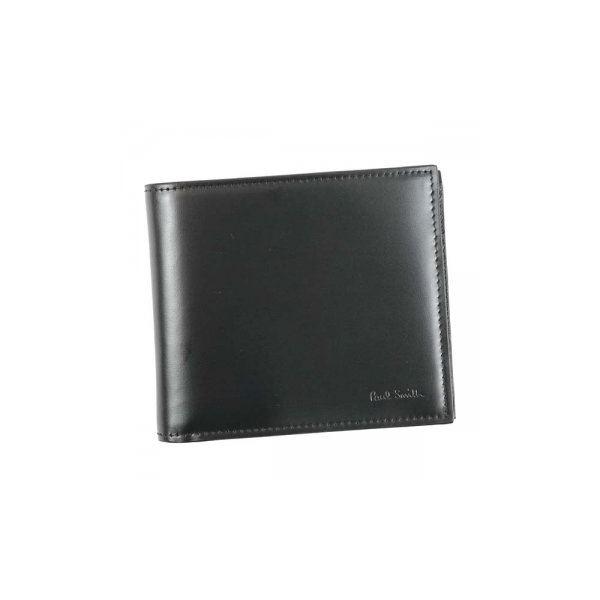 Paul smith(ポールスミス) 三つ折り財布(小銭入れ付) ARXC4833 B Blackf00