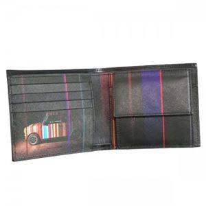 Paul smith(ポールスミス) 三つ折り財布(小銭入れ付) ARXC4833 B Black h03