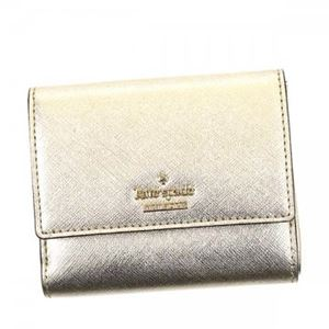 KATE SPADE(ケイトスペード) 二つ折り財布(小銭入れ付) PWRU5092 711 GOLD h01