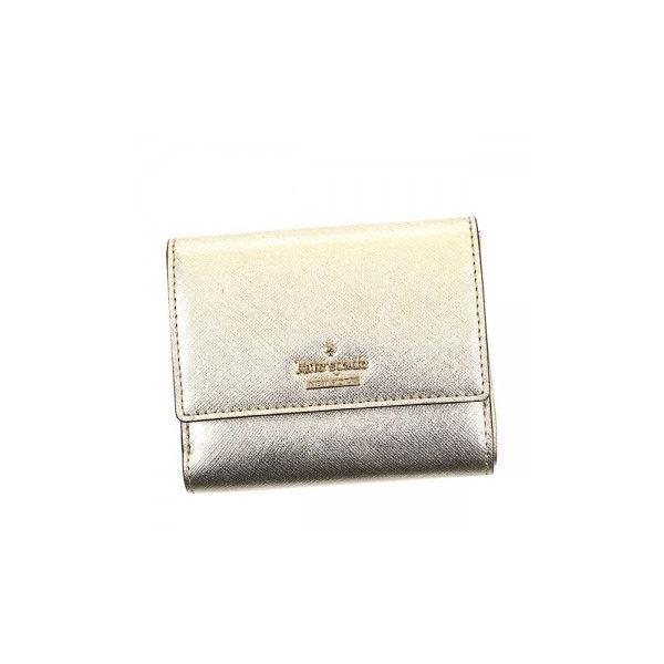 KATE SPADE(ケイトスペード) 二つ折り財布(小銭入れ付) PWRU5092 711 GOLDf00