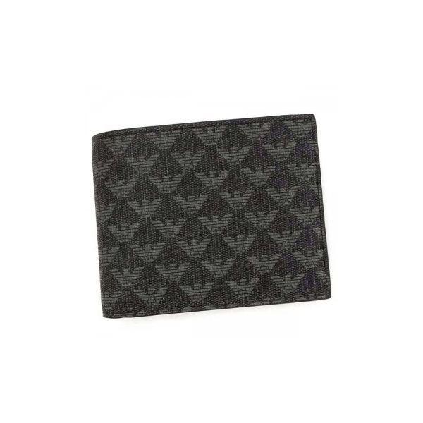 EMPORIO ARMANI(エンポリオアルマーニ) 二つ折り財布(小銭入れ付) Y4R065 86526 LAVAGNA/NEROf00