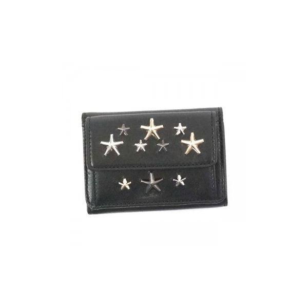 Jimmy Choo(ジミーチュー) 三つ折り財布(小銭入れ付) NEMO BLACK/METALLIC MIXf00