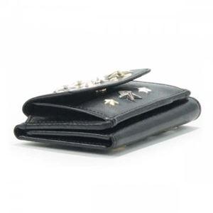 Jimmy Choo(ジミーチュー) 三つ折り財布(小銭入れ付) NEMO BLACK/METALLIC MIX h02