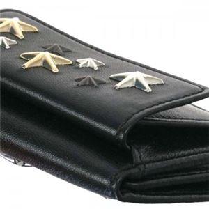 Jimmy Choo(ジミーチュー) 三つ折り財布(小銭入れ付) NEMO BLACK/METALLIC MIX f05