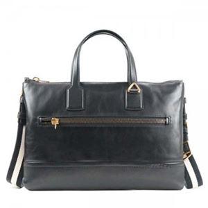 Bally(バリー) ブリーフケース BUSINESS BAG BLACK BLACK/BEIGE h01