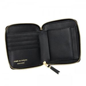 COMME des GARCONS(コムデギャルソン) 二つ折り財布(小銭入れ付) SA2100 BLACK h03