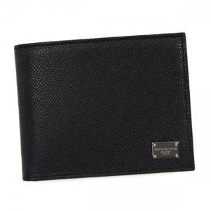 DOLCE&GABBANA(ドルチェアンドガッバーナ)二つ折り財布(小銭入れ付)BP045780999BLACK