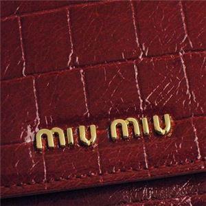 MIUMIU(ミュウミュウ) 長財布 5M1109 F0041 RUBINO f04