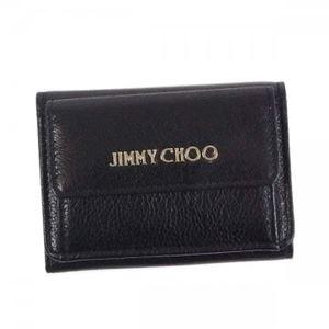 Jimmy Choo(ジミーチュー) 三つ折り財布(小銭入れ付) NEMO BLACK h01