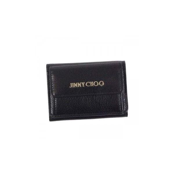 Jimmy Choo(ジミーチュー) 三つ折り財布(小銭入れ付) NEMO BLACKf00