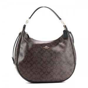 Coach Factory(コーチ F) ホーボー 38300 SIGNATURE COATED COTTON CANVAS h01