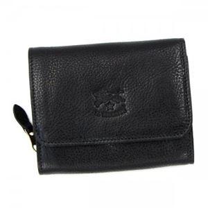 IL BISONTE(イル ビゾンテ) 二つ折り財布(小銭入れ付)  C0883 153 NERO