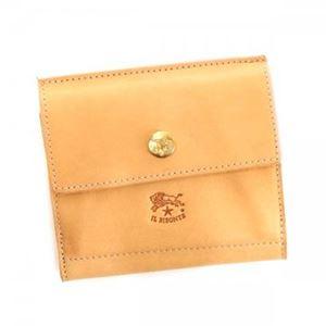 ILBISONTE(イルビゾンテ)二つ折り財布(小銭入れ付)C0910120NATURAL