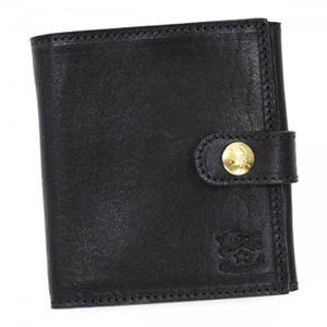 IL BISONTE(イル ビゾンテ) 二つ折り財布(小銭入れ付)  C0955 153 NERO - 拡大画像