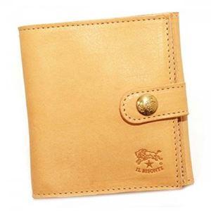 IL BISONTE(イル ビゾンテ) 二つ折り財布(小銭入れ付) C0955 120 NATURAL