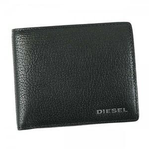 DIESEL(ディーゼル) 二つ折り財布(小銭入れ付) X03925 T8013 BLACK