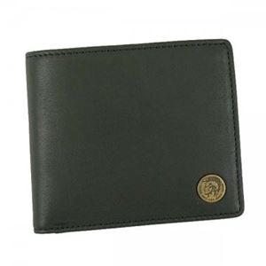 DIESEL(ディーゼル) 二つ折り財布(小銭入れ付)  X04373 T8013 BLACK - 拡大画像