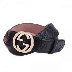 Gucci(グッチ) ベルト 370543 1000 長さ 90cmまで対応 幅3.5cm ベルト穴5