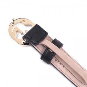 Gucci(グッチ) ベルト 370543 1000 長さ 95cmまで対応 幅3.5cm ベルト穴5