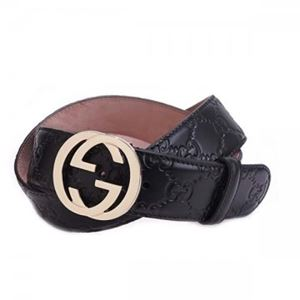 Gucci(グッチ) ベルト 370543 1000 長さ 100cmまで対応 幅3.5cm ベルト穴5
