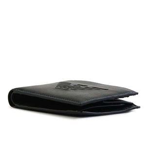 EMPORIO ARMANI(エンポリオアルマーニ) 2つ折小銭付き財布 Y4R165 81072 BLACK