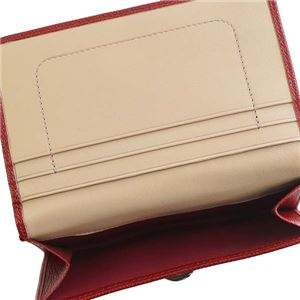 Bvlgari(ブルガリ) 2つ折小銭付き財布 281454 RUBY RED
