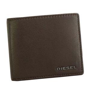 DIESEL(ディーゼル) 2つ折小銭付き財布 X04459 H6607 BROWN/FREESIA YELLOW