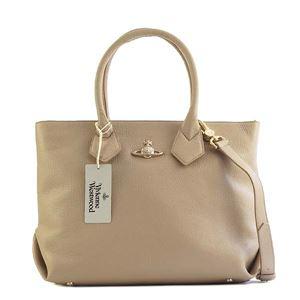 Vivienne Westwood(ヴィヴィアンウエストウッド) ハンドバッグ 42050011 J401 TAUPE