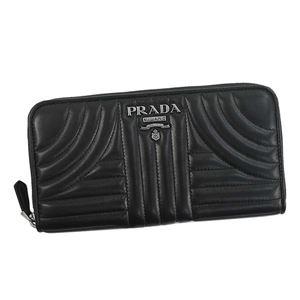 Prada(プラダ) ラウンド長財布 1ML506 F0002 BLACK