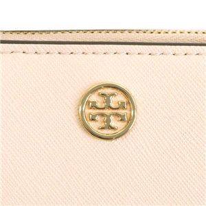 TORY BURCH(トリーバーチ) 2つ折小銭付き財布 47124 688 PALE APRICOT / ROYAL NAVY