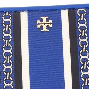 TORY BURCH(トリーバーチ) ラウンド長財布 34401 455 JEWEL BLUE GEMINI LINK STRIPE - SLG