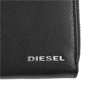 DIESEL(ディーゼル) ラウンド長財布 X05598 H6818 BLACK/PUREED PUMPKIN