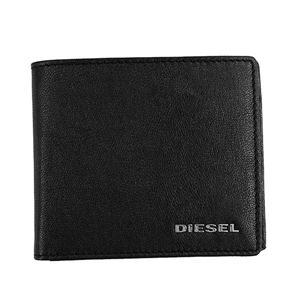 DIESEL(ディーゼル) 2つ折小銭付き財布 X05601 H6818 BLACK/PUREED PUMPKIN