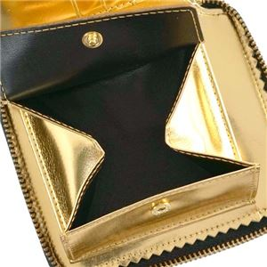 COMME des GARCONS(コムデギャルソン) 2つ折小銭付き財布 SA2100MI GOLD