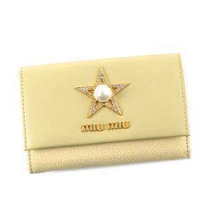 MIUMIU(ミュウミュウ) 3つ折りカード財布 5MH373 F0061 CREMA
