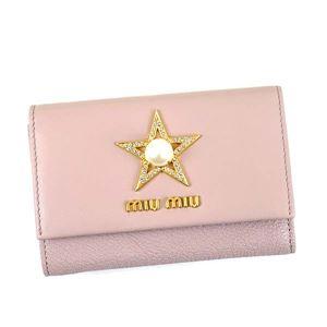 MIUMIU(ミュウミュウ) 3つ折りカード財布 5MH373 F010F MUGHETTO