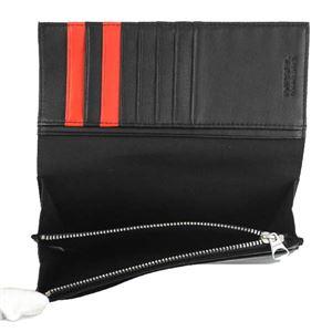 DIESEL(ディーゼル) 長財布 X05587 H2691 BLACK/FIERY RED