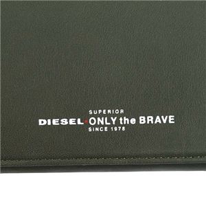 DIESEL(ディーゼル) 長財布 X05587 H5931 OLIVE NIGHT/FIERY RED