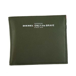 DIESEL(ディーゼル) 2つ折小銭付き財布 X05590 H5931 OLIVE NIGHT/FIERY RED