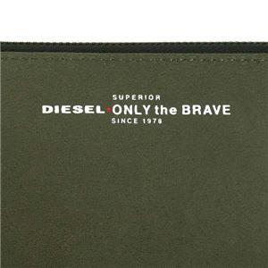DIESEL(ディーゼル) ラウンド長財布 X05591 H5931 OLIVE NIGHT/FIERY RED