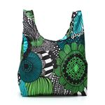 marimekko(マリメッコ) 折りたたみトートバッグ 41404 160 WHITE/GREEN/BLACKの画像