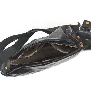 Jack Gomme(ジャックゴム )ナナメガケバッグ  1345  BLACK h03