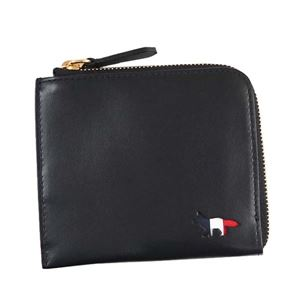 MAISON KITSUNE(メゾンキツネ) 二つ折り財布(小銭入れ付) FW17U1019-BK BLACK