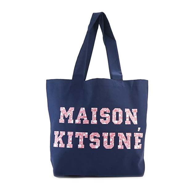MAISON KITSUNE(メゾンキツネ) トートバッグ  FW17U810-NA  NAVYf00