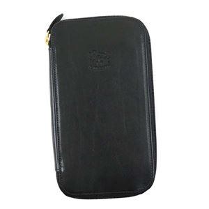 IL BISONTE(イルビゾンテ) ラウンド長財布  C0442 153 BLACK