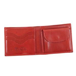 IL BISONTE(イルビゾンテ) 二つ折り財布(小銭入れ付)  C0817 245 RUBY RED